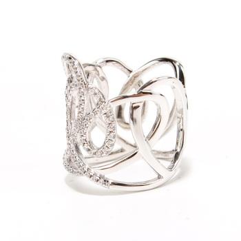 时尚雕花镂空戒指